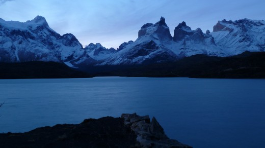Cuernos del Paine at dusk