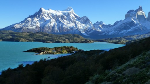 Lago Pehoe in Torres del Paine, Chile