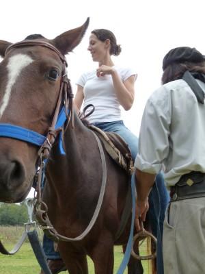 Gaucho Paco and Chispa (horse)